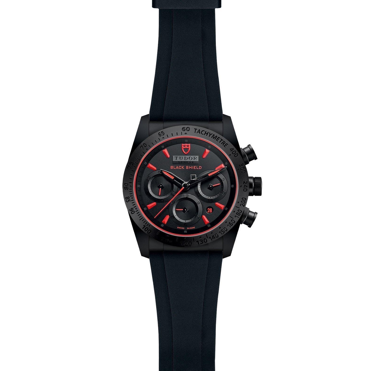 Montre TUDOR Fastrider Black Shield boîtier en céramique, 42mm, bracelet en caoutchouc noir vue 2