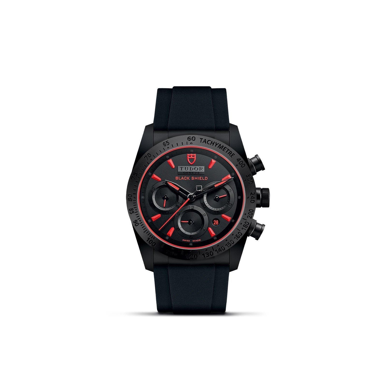 Montre TUDOR Fastrider Black Shield boîtier en céramique, 42mm, bracelet en caoutchouc noir vue 1