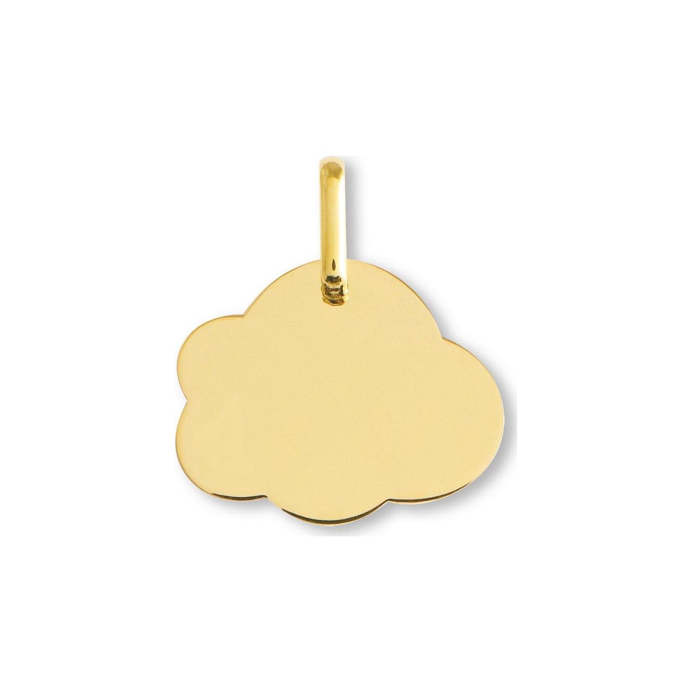 Médaille de baptême Lucas Lucor nuage en or jaune