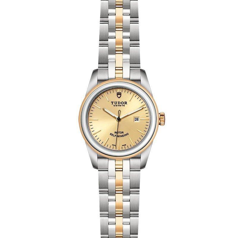 Montre TUDOR Glamour Date boîtier en acier, 31mm, lunette en acier et or jaune vue 2