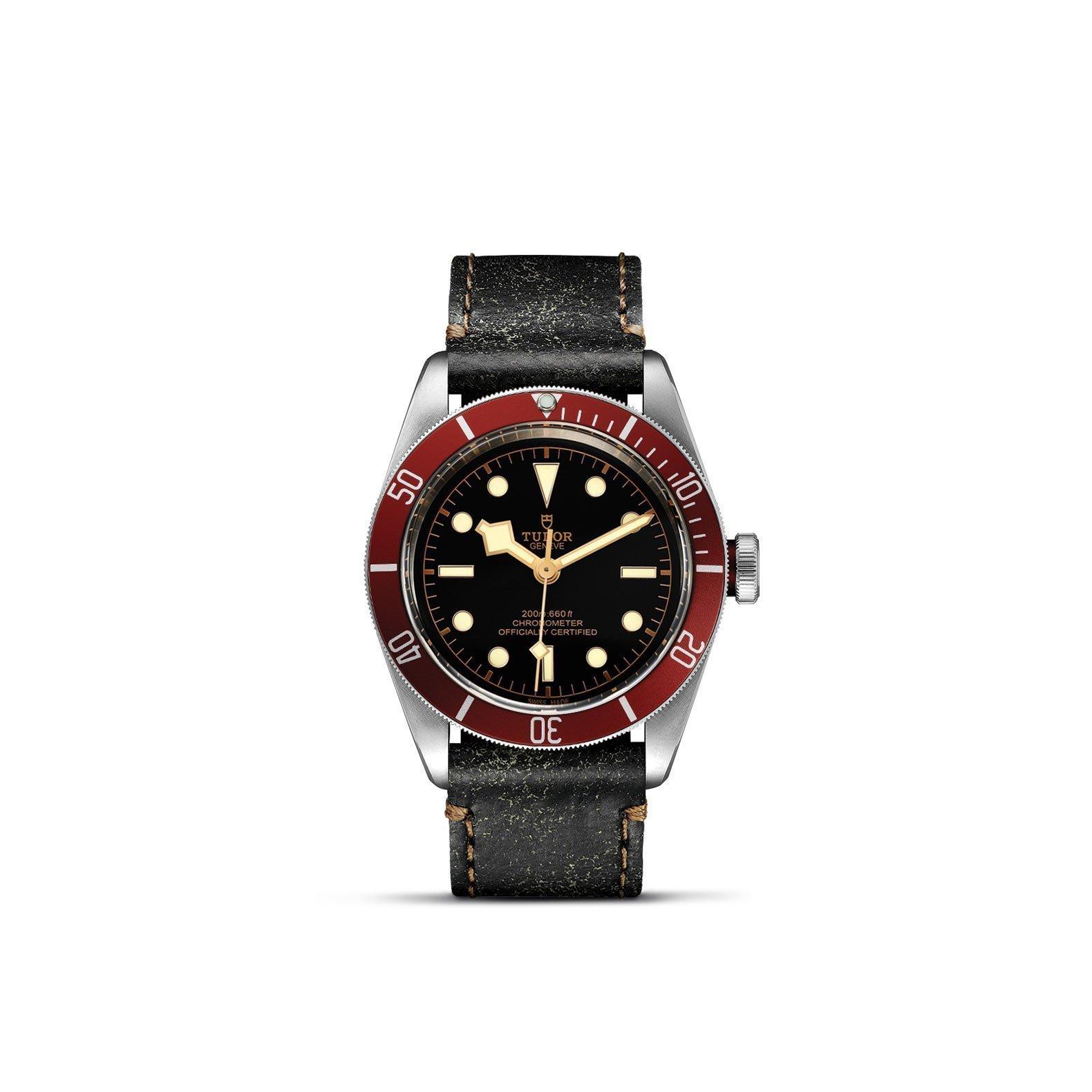 Montre TUDOR Black Bay boîtier en acier, 41mm, bracelet en cuir vieilli vue 1