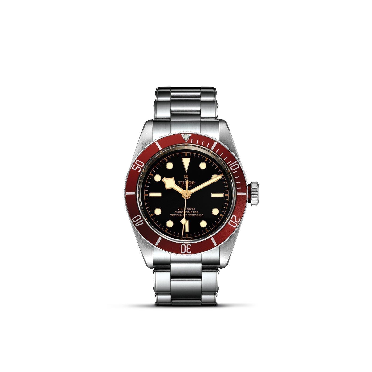 Montre TUDOR Black Bay boîtier en acier, 41mm, bracelet en acier riveté vue 1