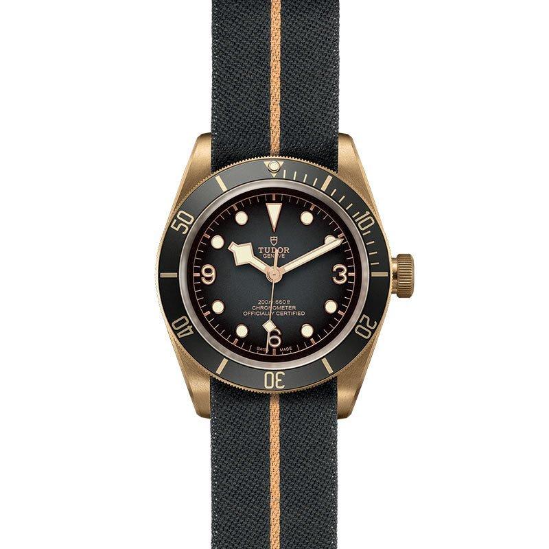 Montre TUDOR Black Bay Bronze boîtier en bronze, 43mm, bracelet en tissu vue 2