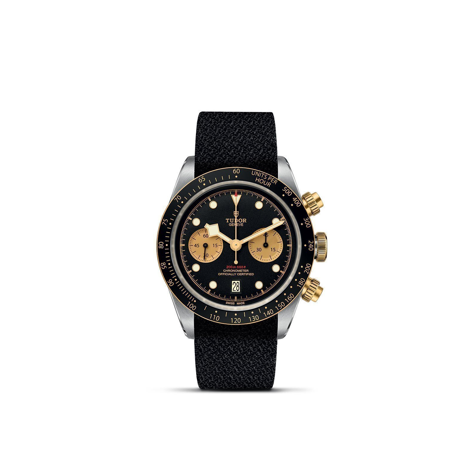 Montre TUDOR Black Bay Chrono S&G boîtier en acier, 41mm, bracelet en tissu vue 1