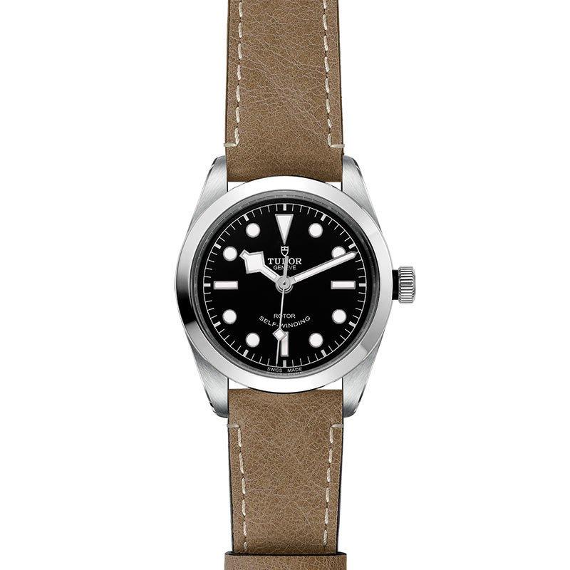 Montre TUDOR Black Bay 36 boîtier en acier, 36mm, bracelet en cuir beige vue 2