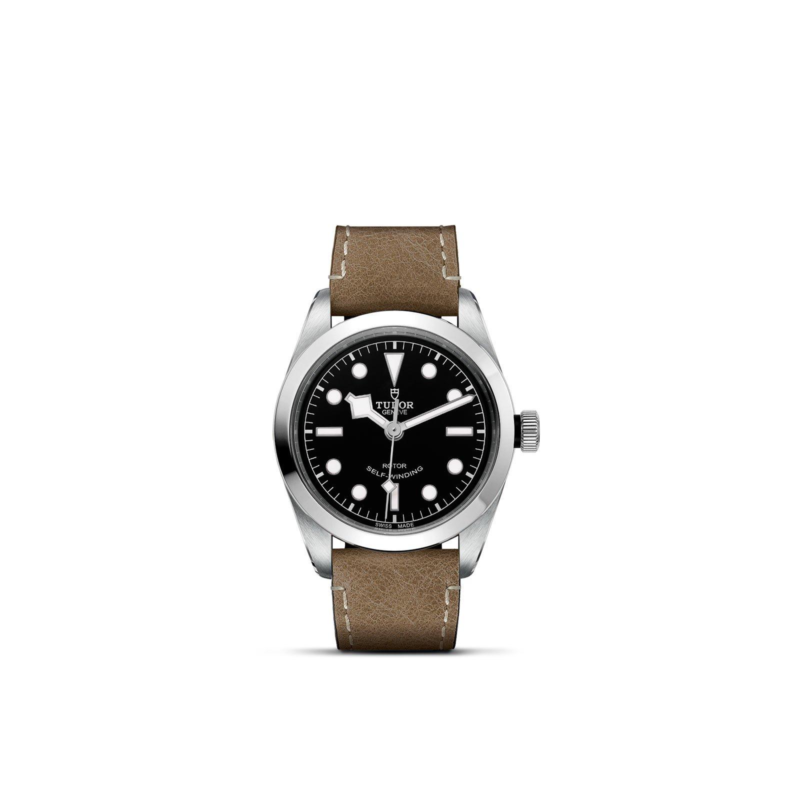 Montre TUDOR Black Bay 36 boîtier en acier, 36mm, bracelet en cuir beige vue 1