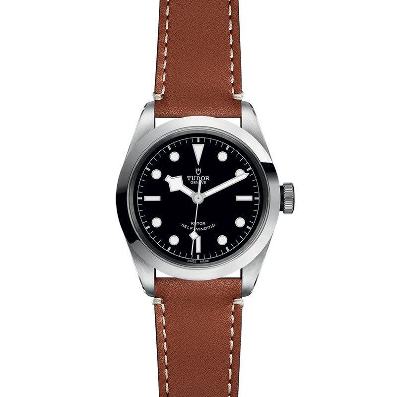 Montre TUDOR Black Bay 41 boîtier en acier, 41mm, bracelet en cuir brun vue 2