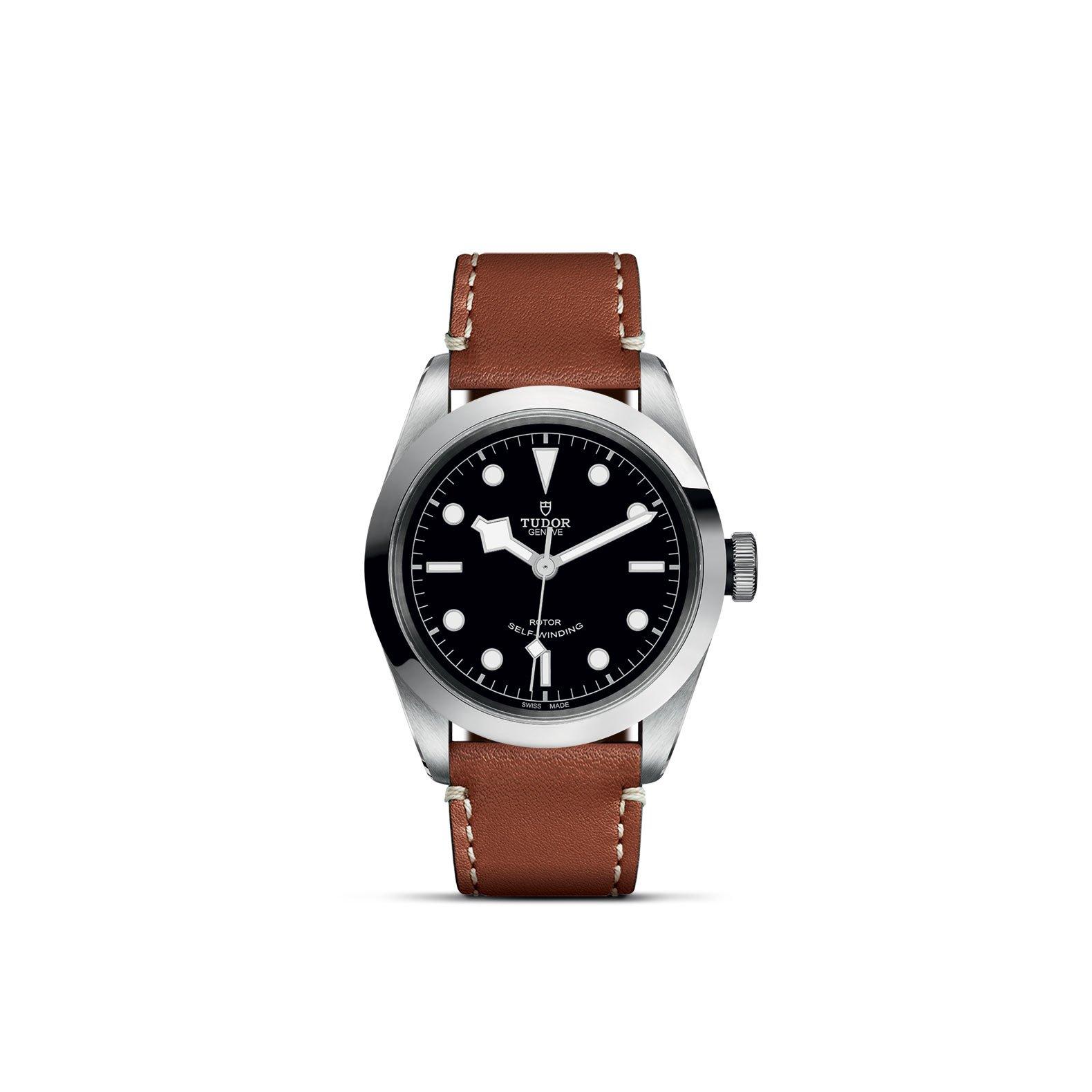 Montre TUDOR Black Bay 41 boîtier en acier, 41mm, bracelet en cuir brun vue 1