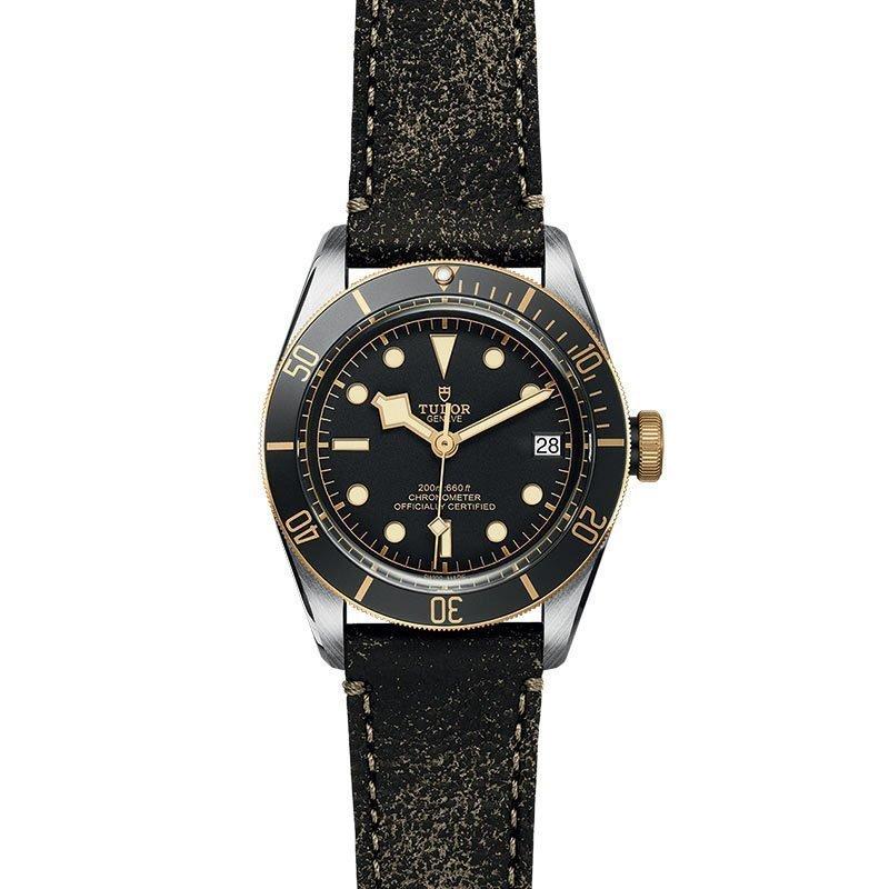 Montre TUDOR Black Bay S&G boîtier en acier, 41mm, bracelet en cuir vieilli vue 2