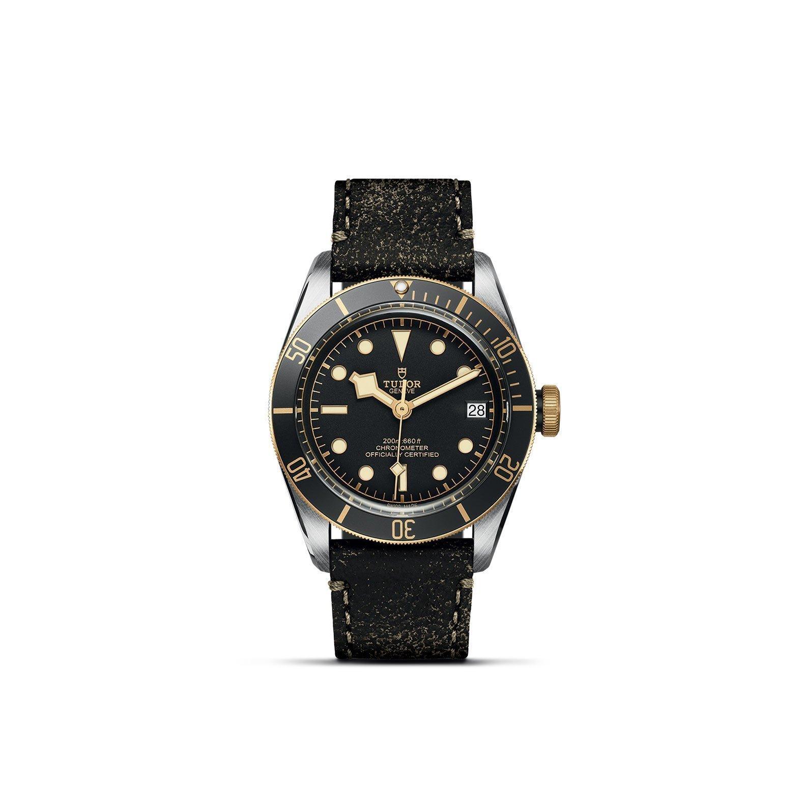 Montre TUDOR Black Bay S&G boîtier en acier, 41mm, bracelet en cuir vieilli vue 1