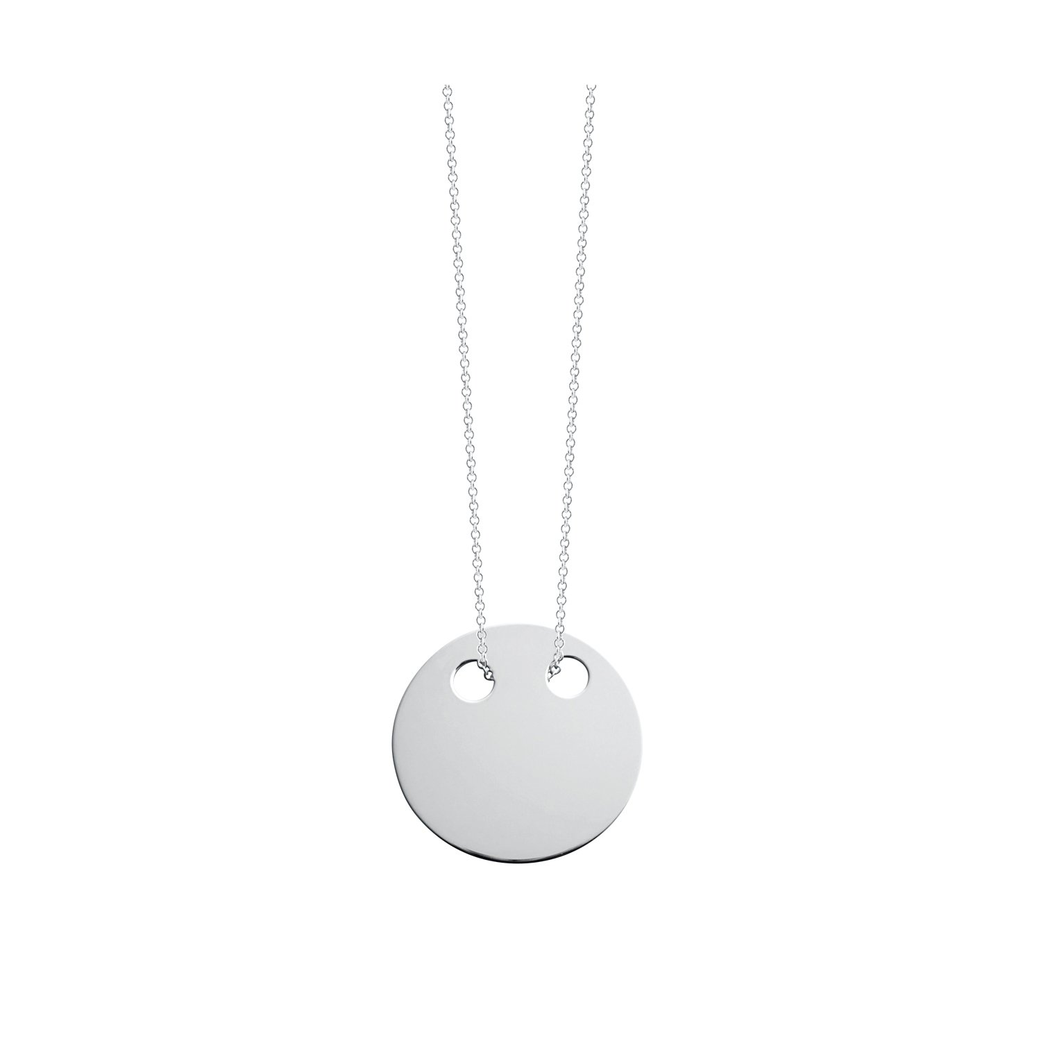 Collier GYNETTE NY DISCS en or blanc