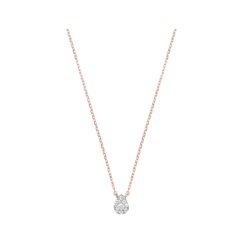 Collier Djula Mini Poire en or rose et diamants