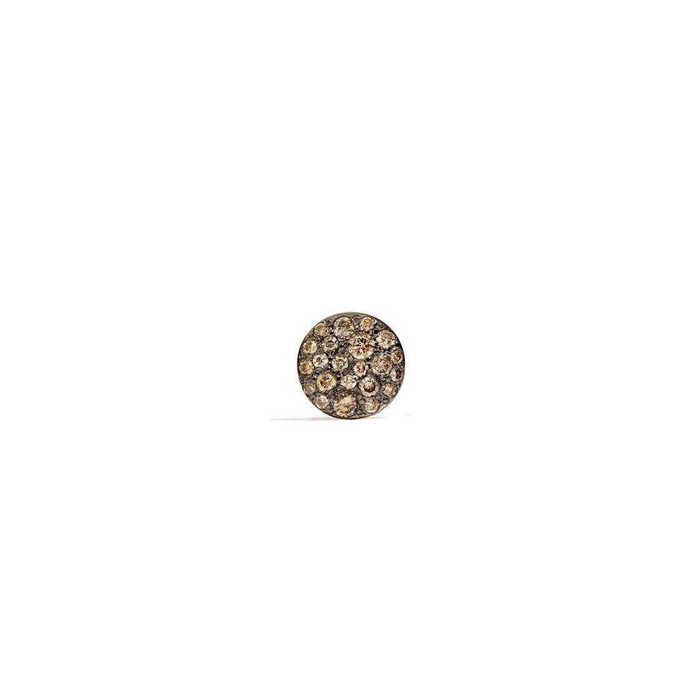 Boucles d'oreilles Pomellato Sabbia en Or rose et Diamant brun vue 1
