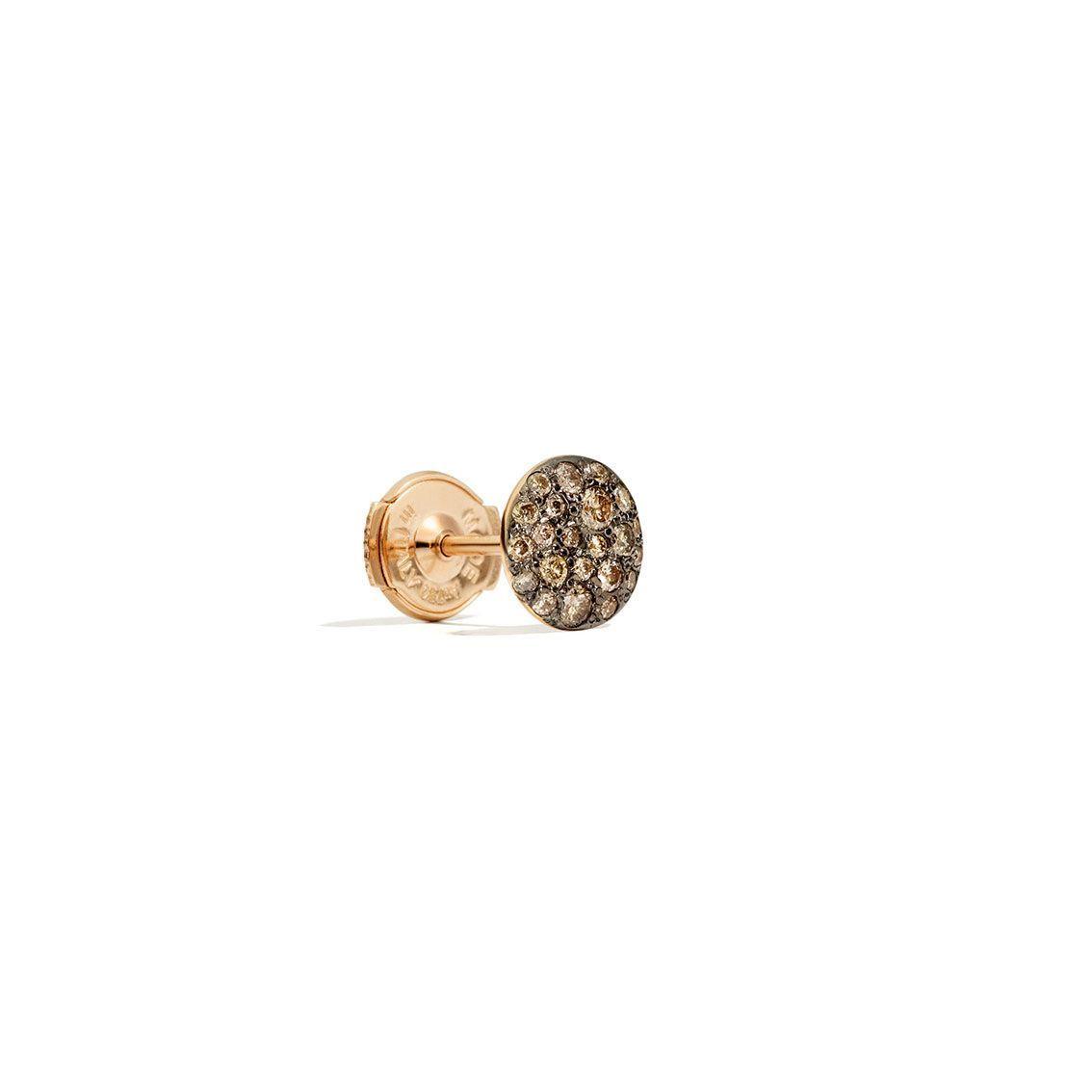 Boucles d'oreilles Pomellato Sabbia en Or rose et Diamant brun vue 2