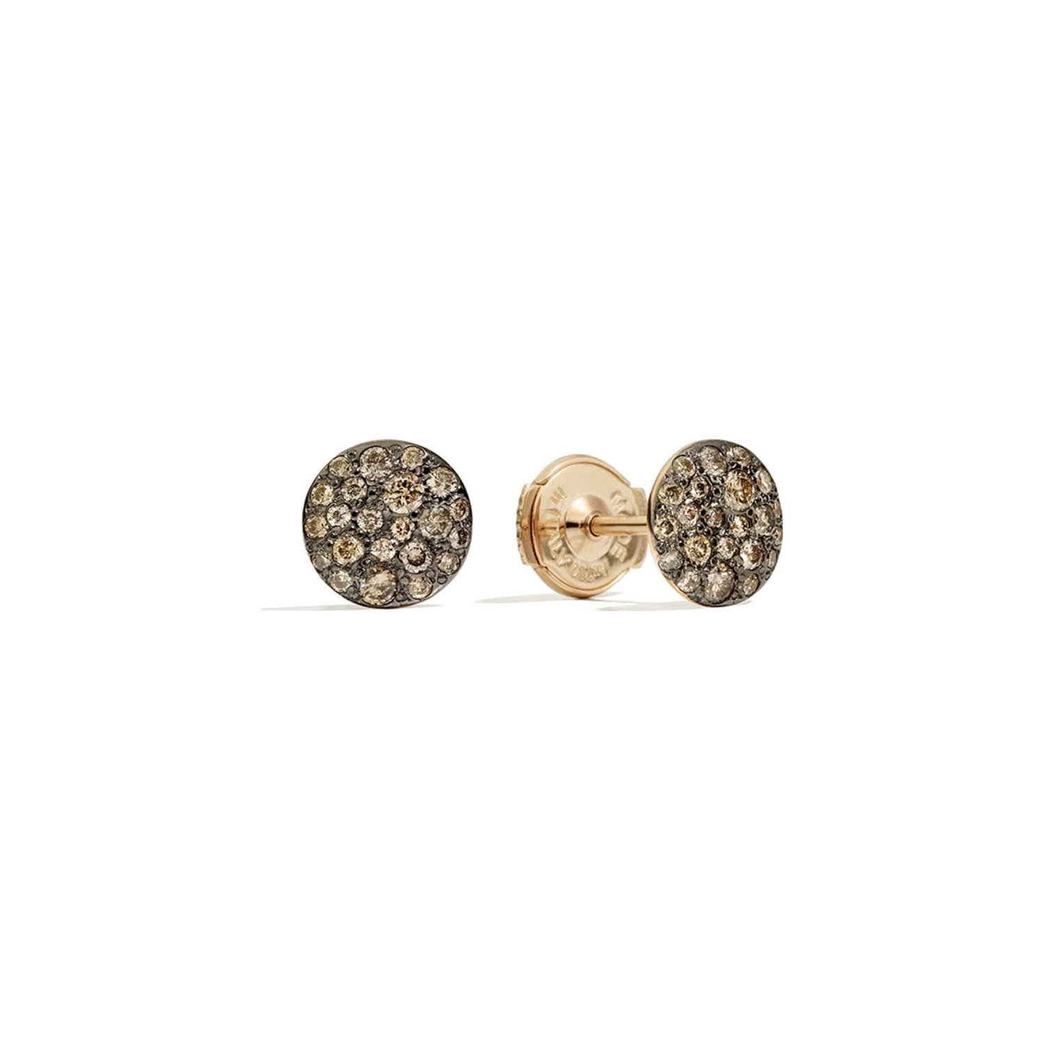 Boucles d'oreilles Pomellato Sabbia en or rose et diamants bruns