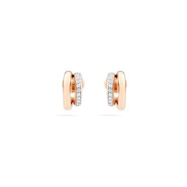 Boucles d'oreilles Pomellato Iconica en or rose et diamants