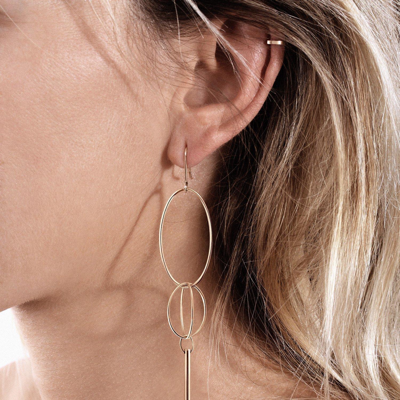 Mono boucle d'oreille Vanrycke Coachella en or rose, taille XL vue 3