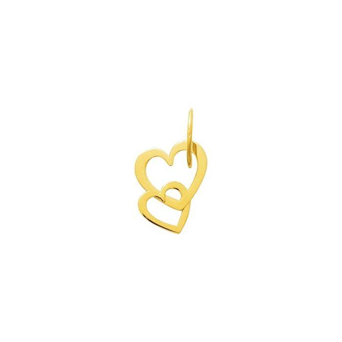 Pendentif cœurs en or jaune