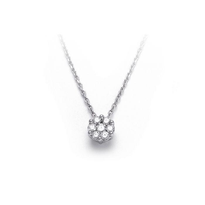 Collier en or blanc et diamants de 0.20ct