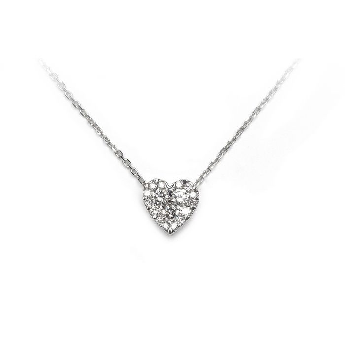 Collier en or blanc et diamants de 0.25ct