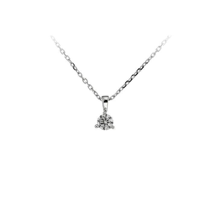 Collier en or blanc et diamant de 0.10ct