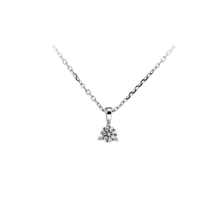 Collier en or blanc et diamant de 0.20ct