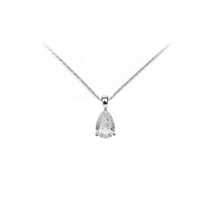 Collier en or blanc et diamant de 0.30ct