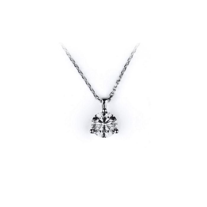 Collier en or blanc et diamant de 0.05ct