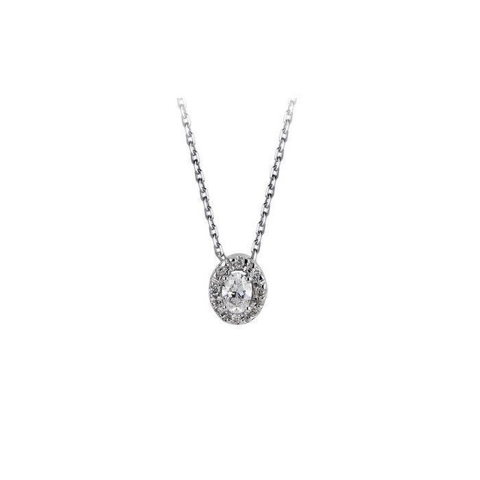 Collier en or blanc et diamant de 0.12ct