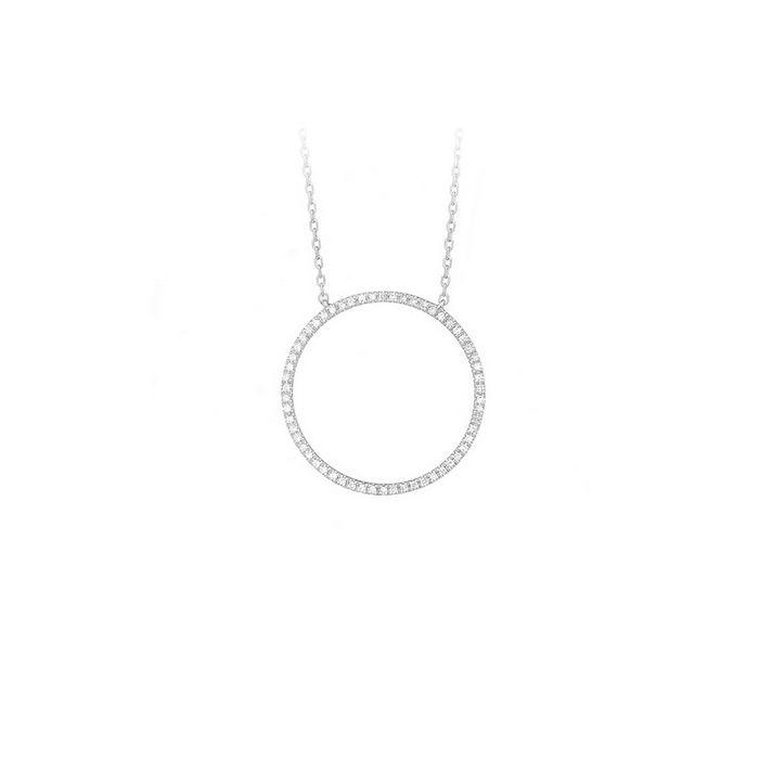 Collier en or blanc et diamants de 0.13ct