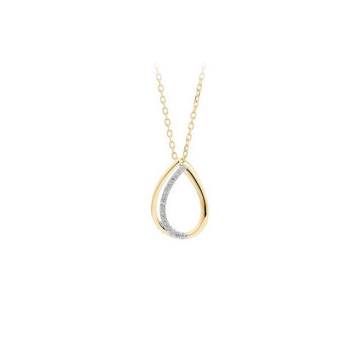 Collier en or jaune et diamants de 0.04ct