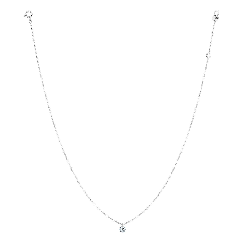 Collier LA BRUNE & LA BLONDE 360° en or blanc et diamant de 0.20ct