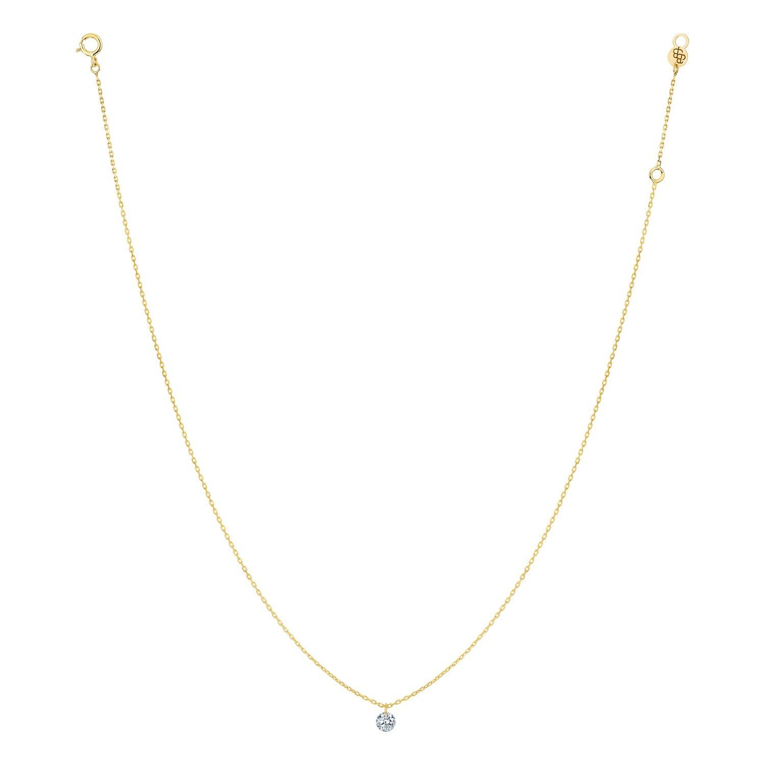 Collier LA BRUNE & LA BLONDE 360° en or jaune et diamant de 0.07ct