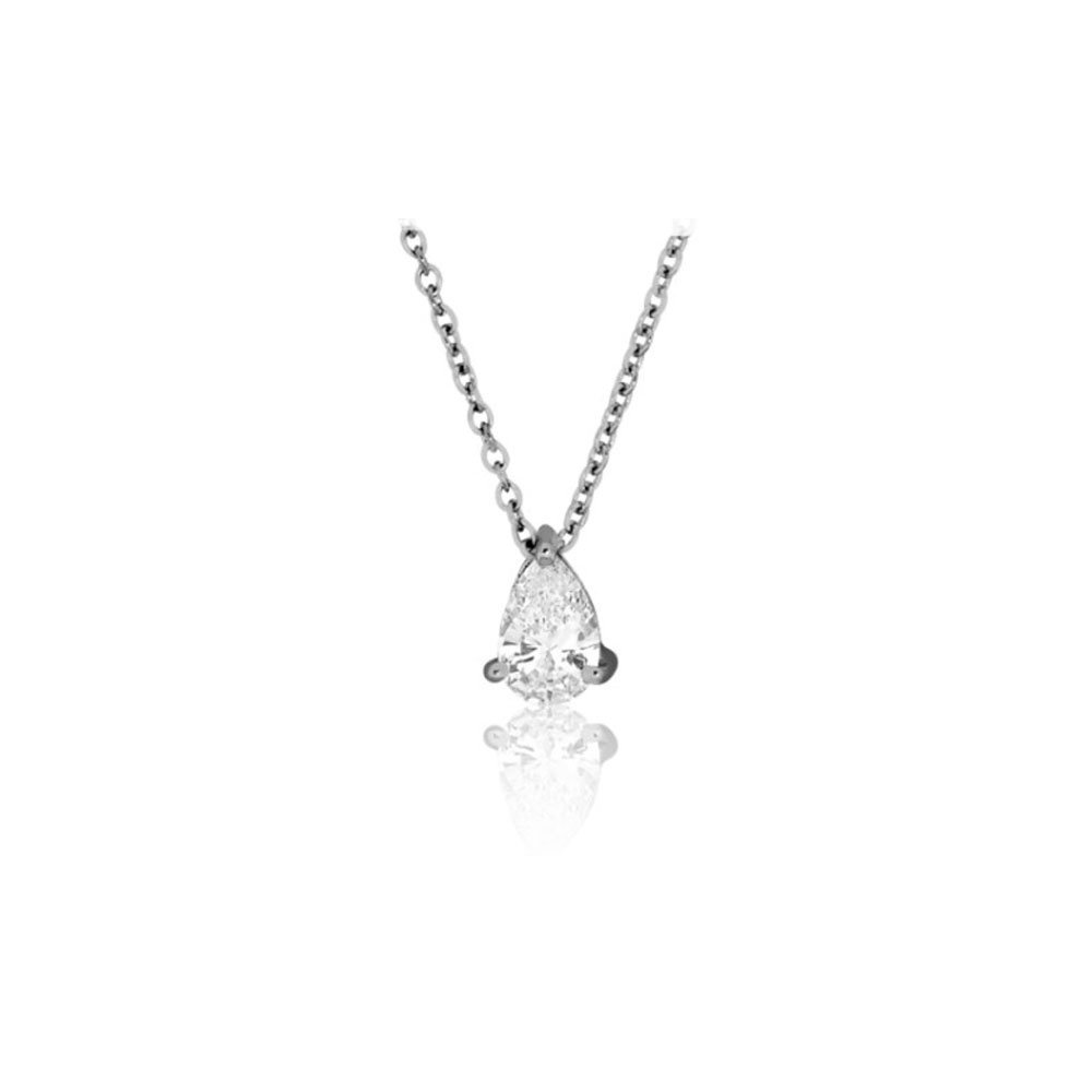 Collier en or blanc et diamant de 0.70ct