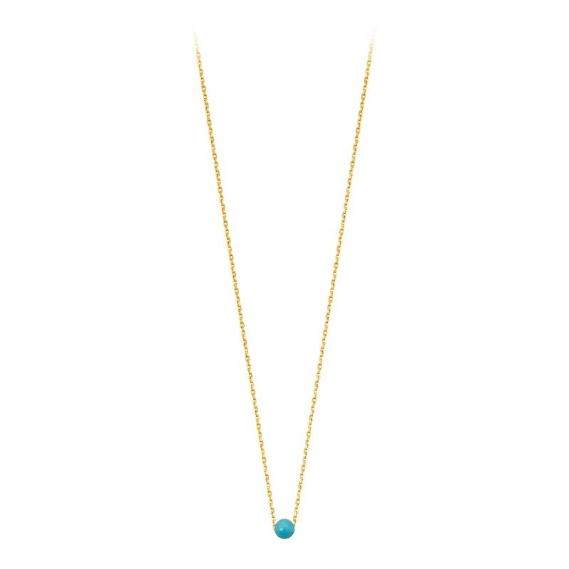 Collier Claverin Mini Simply Mini en or jaune et perles blanches vue 1