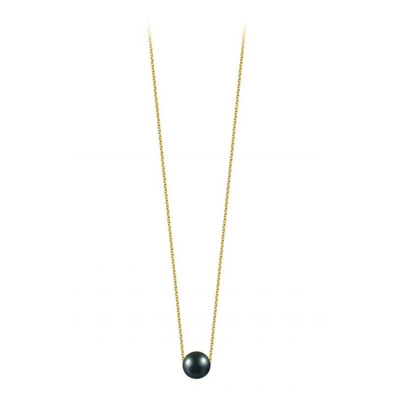 Collier Claverin Simply Pearly en or jaune et perle de Tahiti vue 1
