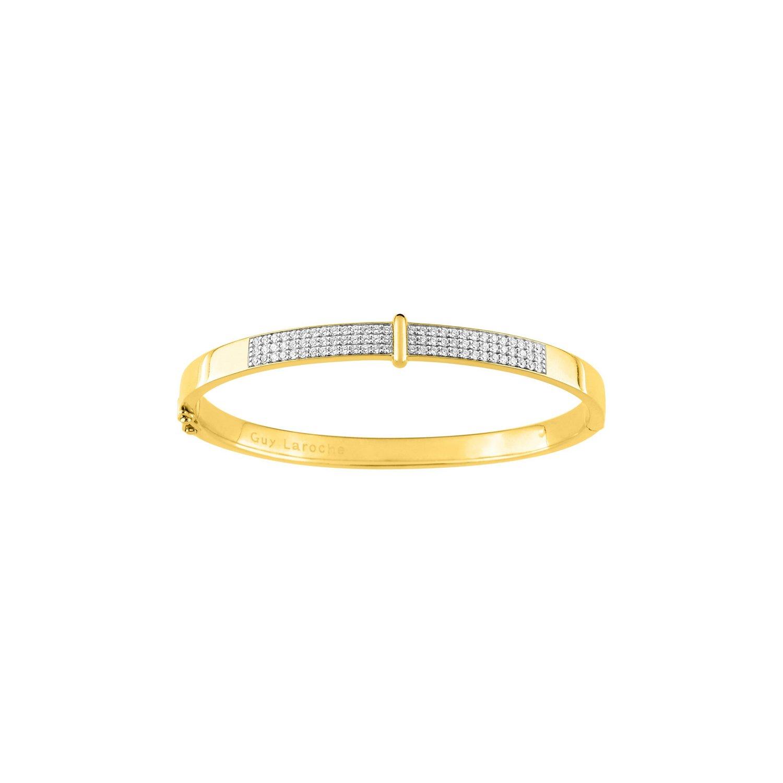 Bracelet Guy Laroche en plaqué or jaune et oxydes de zirconium