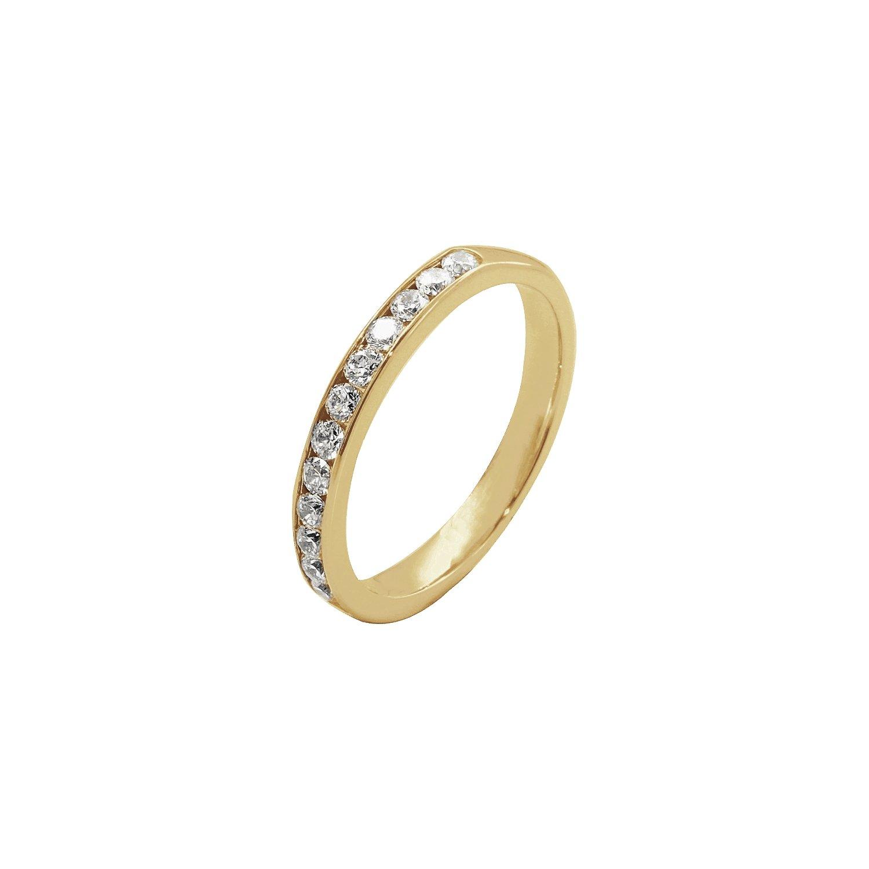 Alliance demi tour en or jaune et diamants de 0.50ct