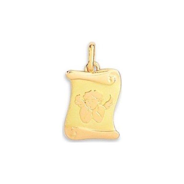 Médaille de baptême parchemin en or jaune