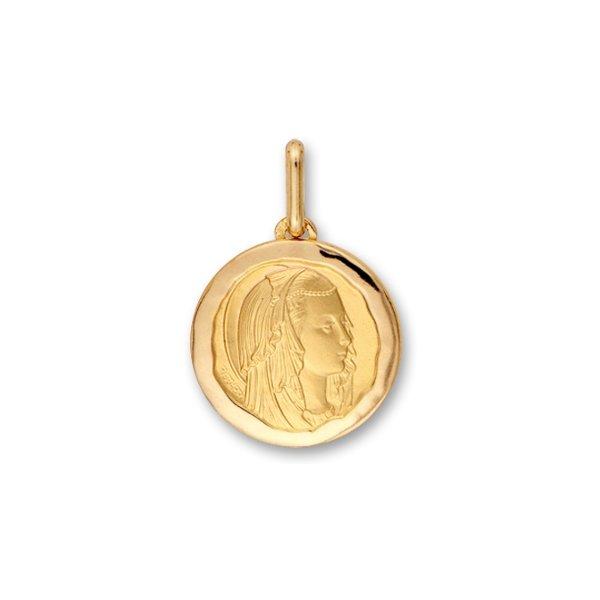 Médaille Vierge en or jaune, 18mm