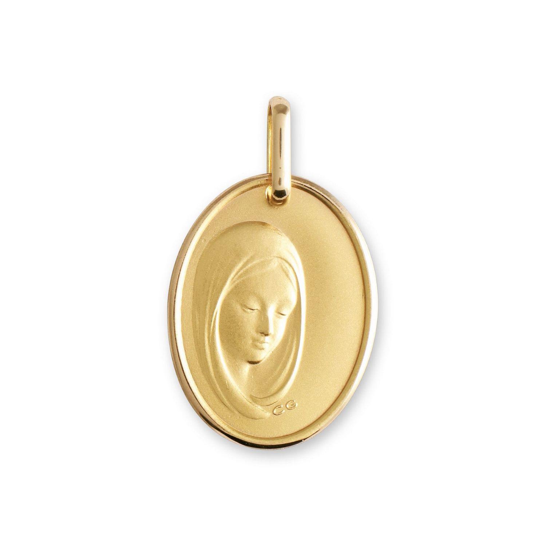 Médaille de baptême Lucas Lucor Vierge en or jaune
