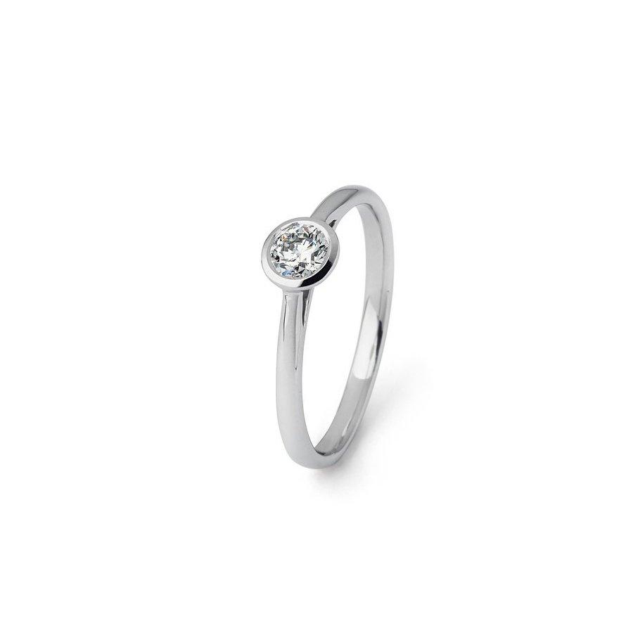 Solitaire en or blanc et diamant de 0.33ct