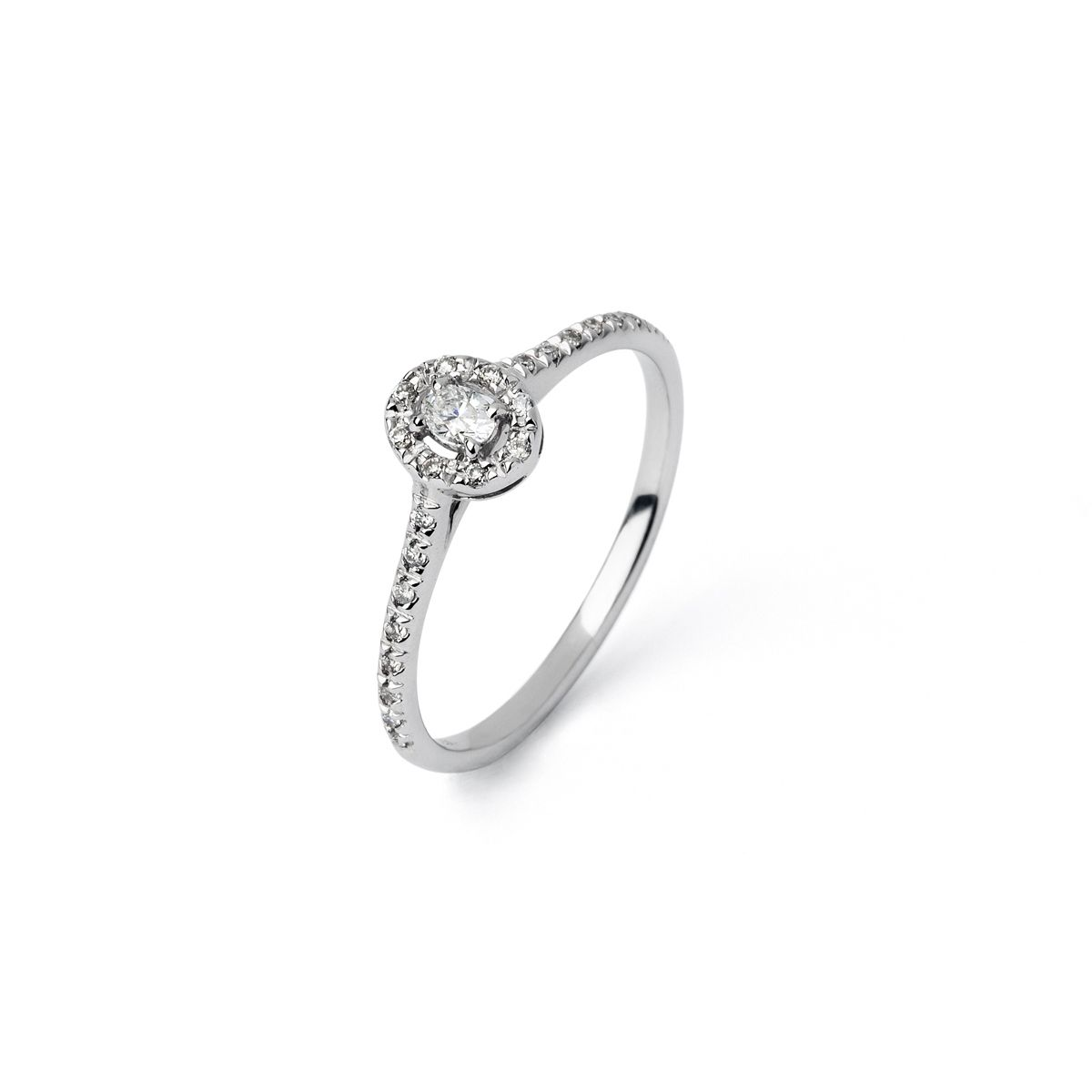 Bague en or blanc et diamants de 0.16ct