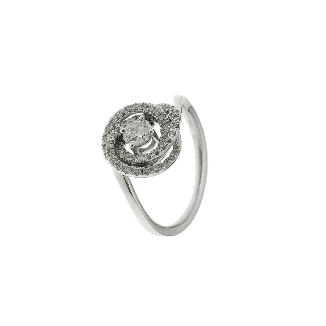 Bague en or blanc et diamants de 0.68ct