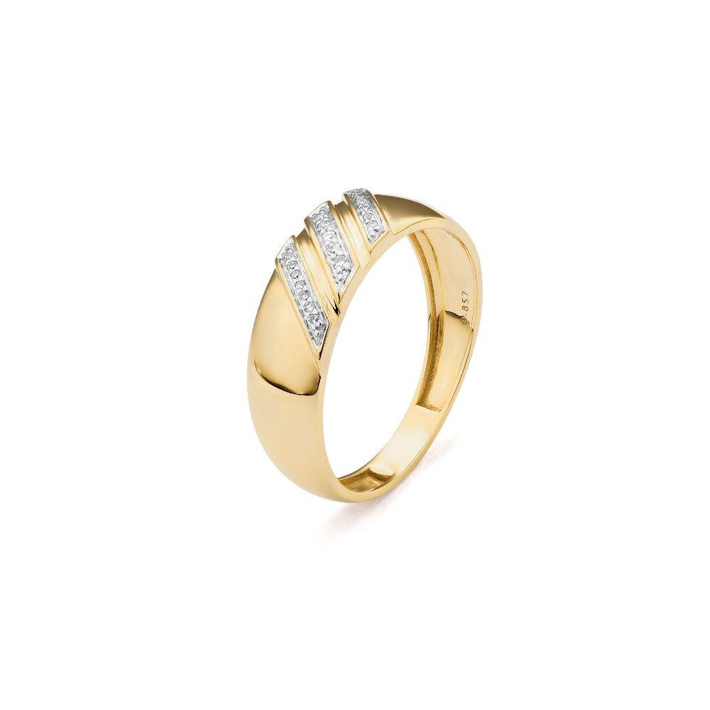 Bague en or jaune et diamants de 0.06ct