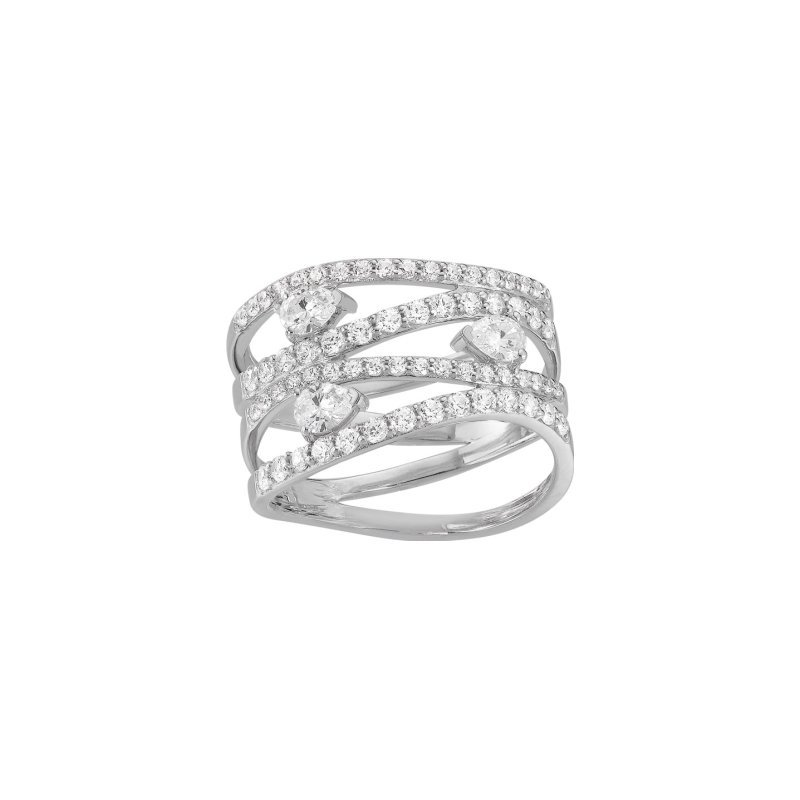Bague en or blanc et diamants de 1.25cts