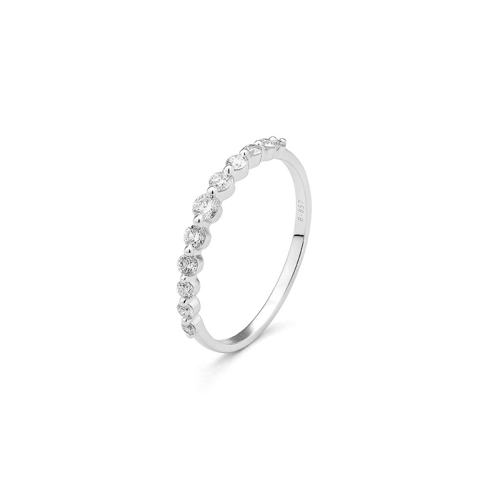 Alliance en or blanc et diamants de 0.32ct vue 1