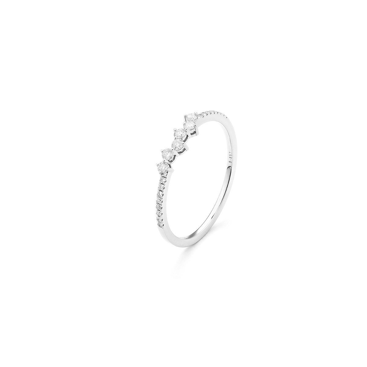 Bague en or blanc et diamants de 0.17ct