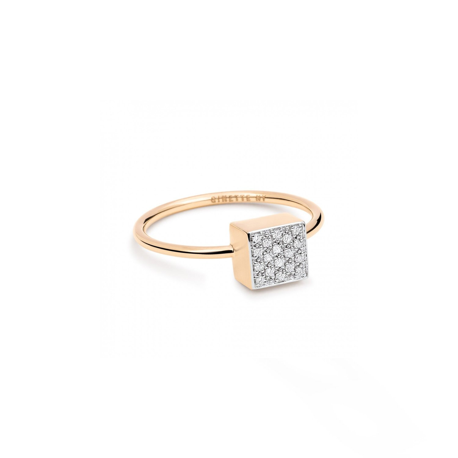 Bague GINETTE NY baby EVER en or rose et diamants