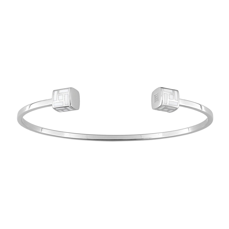Bracelet Guy Laroche en argent et laque blanche